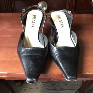 Black Prada sling backs
